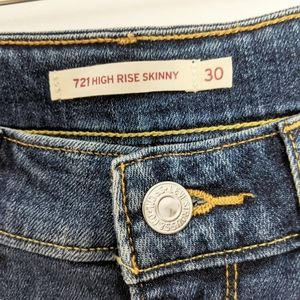 Levi's Jeans - Levi's 721 High-Rise Skinny Distressed Jeans 30